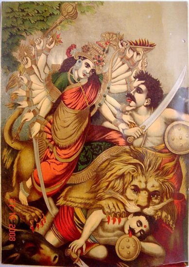 Durga_Mahishasura-mardini,_the_slayer_of_the_buffalo_demon,_Germany