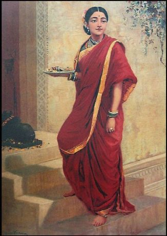 Raja_Ravi_Varma,_Lady_Going_for_Pooja