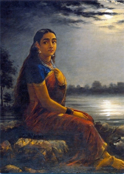 Raja_Ravi_Varma,_Lady_in_the_Moon_Light_(1889)