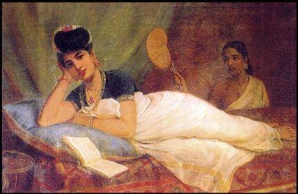 Raja_Ravi_Varma,_Reclining_Woman