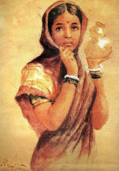Raja_Ravi_Varma,_The_Milkmaid_(1904)
